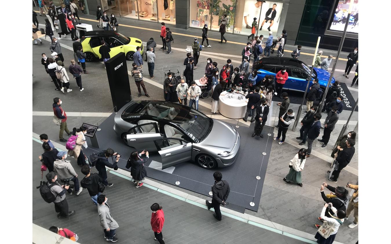 ソニーのEV、VISION-S(3月28日、東京。二子玉川)