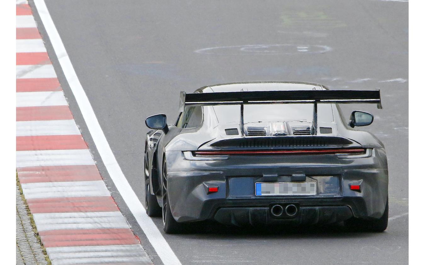ポルシェ 911 GT3 RS 新型プロトタイプ(スクープ写真)