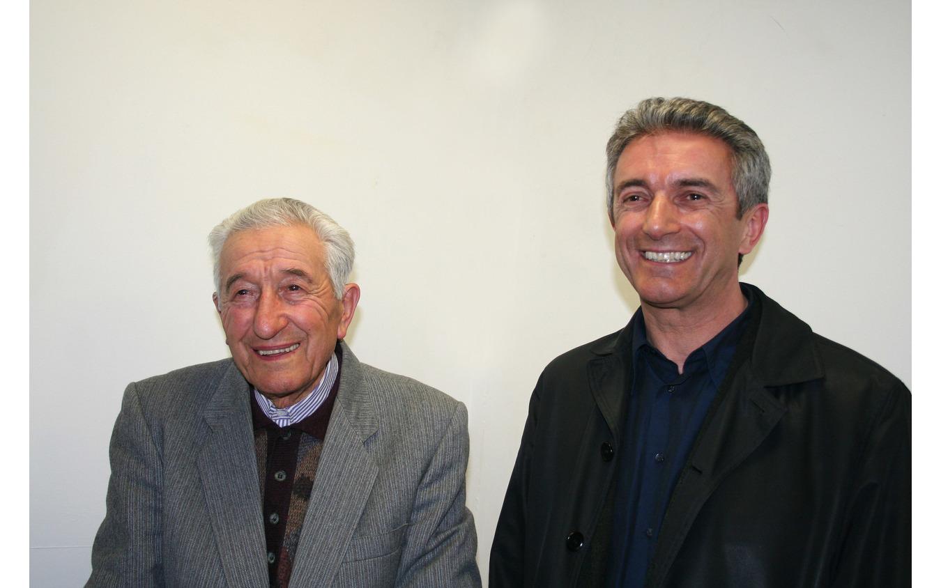 ピエールアンジェロ・マッフィオード(右)とコルネリオ・マッフィオード(左。2006年)