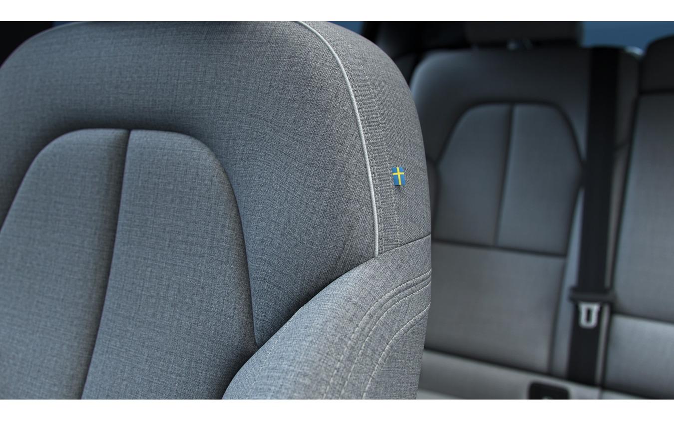ボルボ C40 リチャージ のウール繊維を用いたシート