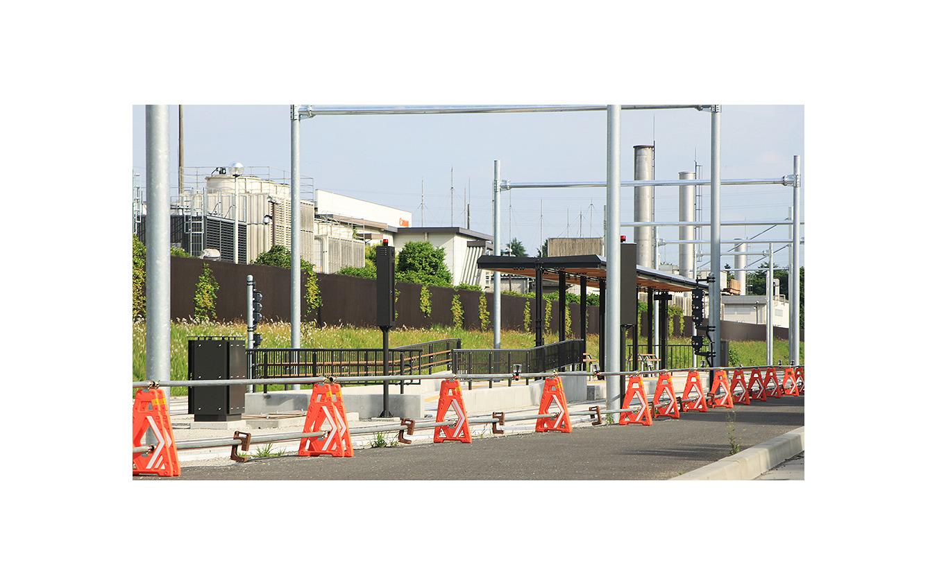 宇都宮ライトレール グリーンスタジアム前電停付近