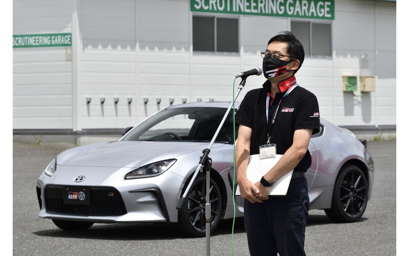 トヨタGAZOO Racing Company GRプロジェクト推進部 GRZ チーフエンジニアの末沢泰謙氏