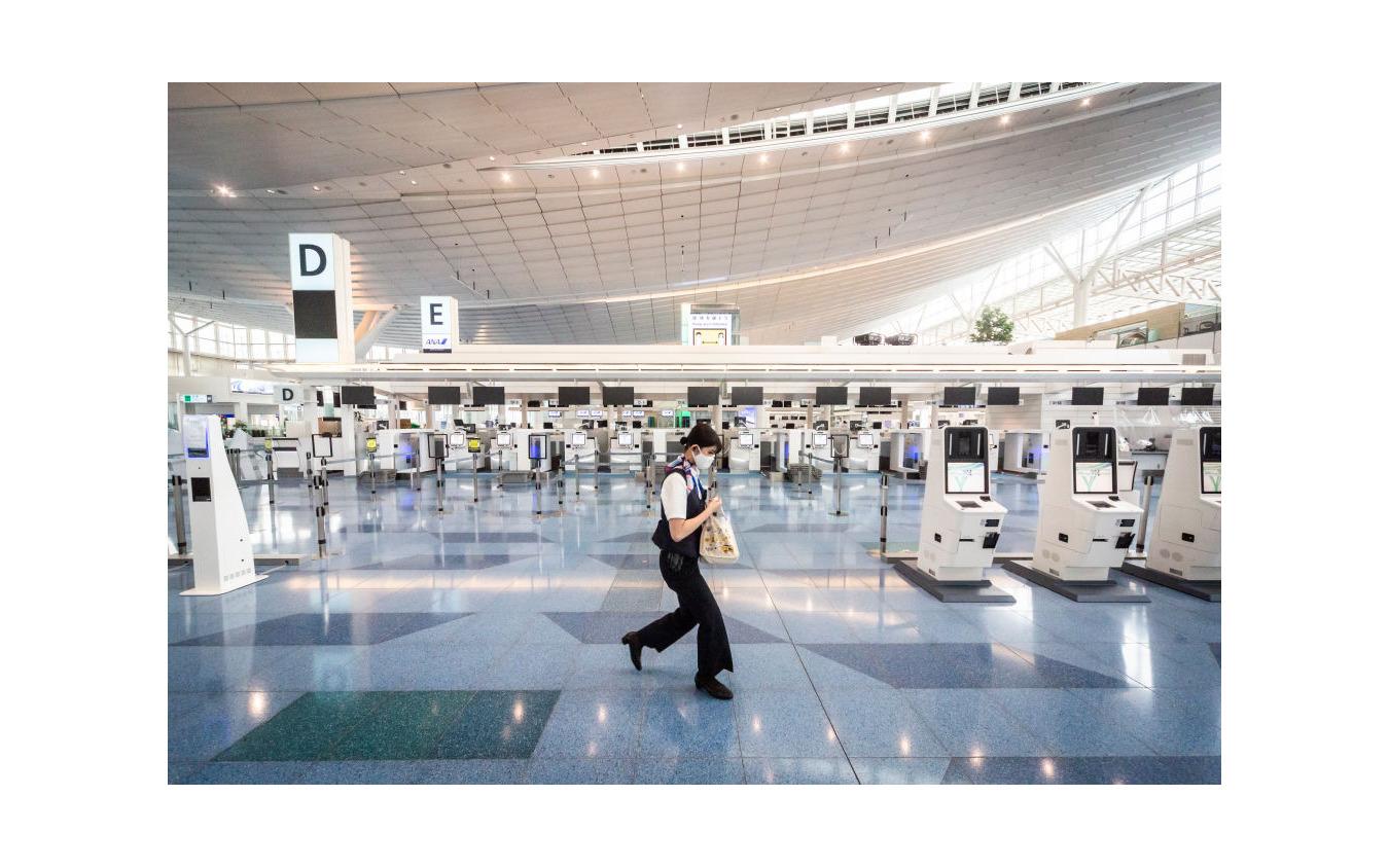 旅客のいない東京・羽田空港