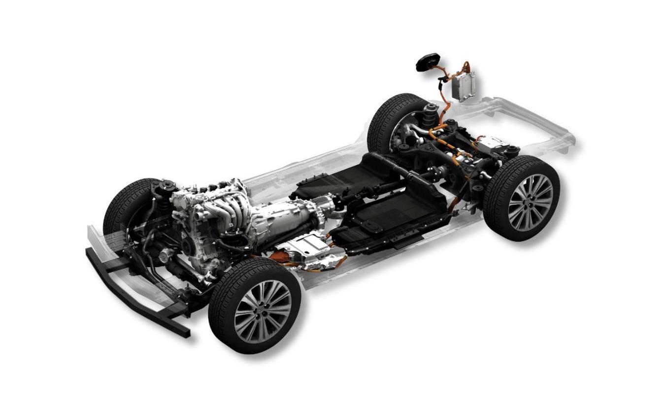 ガソリンエンジン・プラグインハイブリッドのラージ群プラットフォーム