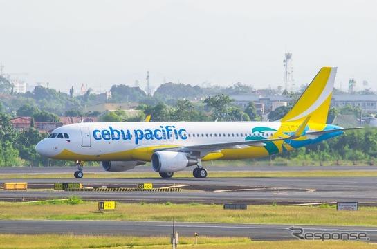フィリピンLCCセブ・パシフィック航空、A320新塗装1号機を受領