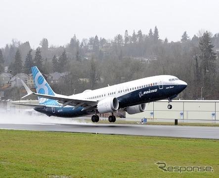 ボーイング新型単通路機プログラムは順調…737MAX8初飛行が成功