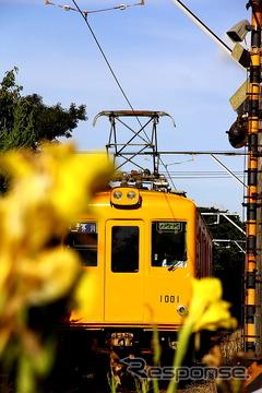 2月に引退するデハ1001。昨年引退したデハ1002とともに銚子電鉄にやってきた元営団地下鉄(現・東京地下鉄)丸の内線の車両だった。