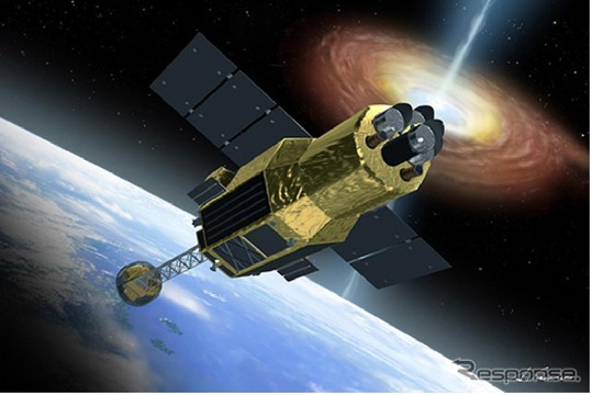 X線天文衛星(ASTRO-H) 軌道上外観図