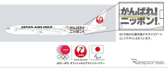 特別塗装機「JALがんばれ!ニッポン!JET」(イメージ)