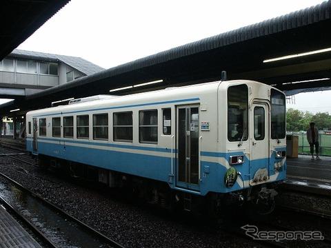 サイクルトレインが試行される予土線の列車。