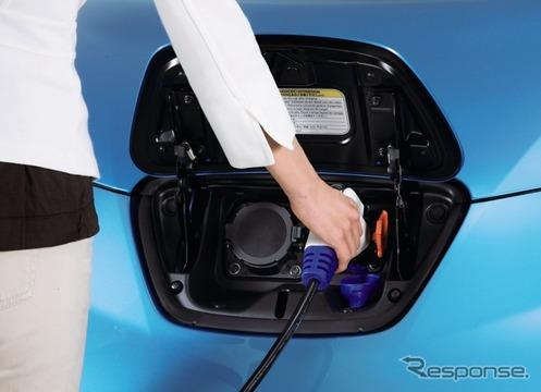 日産リーフの充電ポート