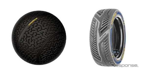 グッドイヤー イーグル360(左)とインテリ・グリップ