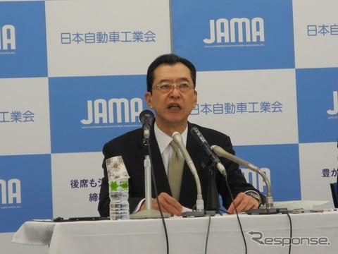 日本自動車工業会の池史彦会長(ホンダ会長)