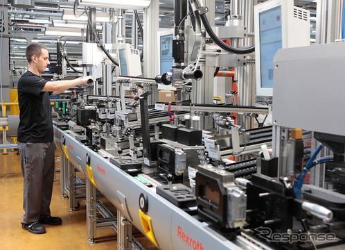 インダストリー4.0アッセンブリーラインが設けられているボッシュ ホンブルク工場