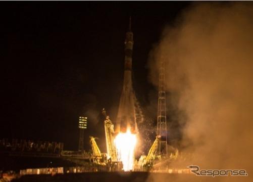 ソユーズ宇宙船(46S)打ち上げ
