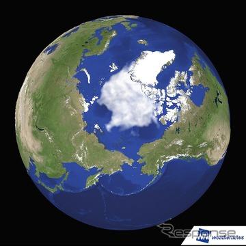 2015年9月14日の北極海の海氷(参考画像)