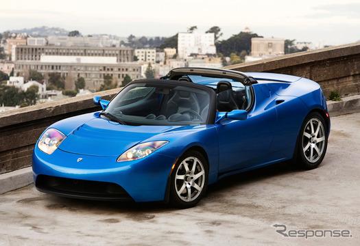 テスラのEVパワートレーンをベースに、トヨタが車体開発をおこなう(写真はテスラロードスター)
