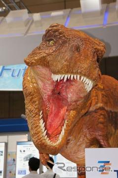 マルチタッチで動く恐竜ロボット「TEサウルス」、タイコエレクトロニクス