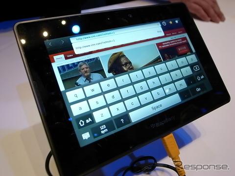 ブラックベリー、4G対応タブレット端末販売へ