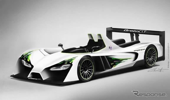 グリーンGT社の燃料電池レーサー『グリーンGT LMPH2』