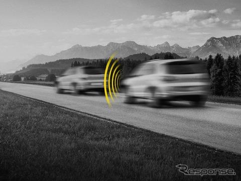 自動緊急ブレーキのイメージ