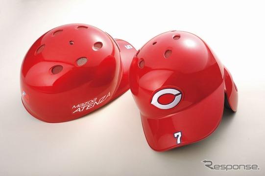 ソウルレッドプレミアムメタリックを採用した広島東洋カープのヘルメット