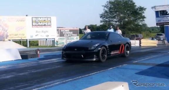 R35型日産GT-Rによる0-400m加速タイム新記録を達成した米国のAMSパフォーマンス