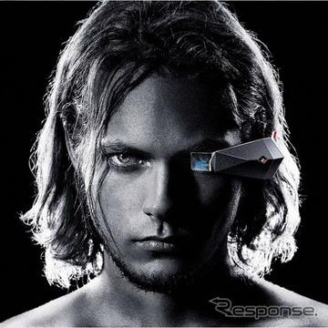 日産自動車のメガネ型情報端末、3Eのイメージ