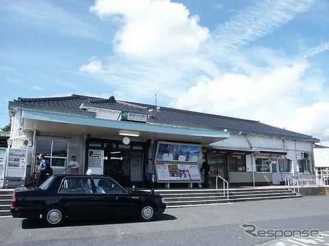 水郡線支線の終点・常陸太田駅。2014年4月からSuicaのサービスに一部対応する。