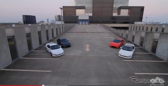 米国で現役の2代目MR2を4台集めた映像を公開したクラシックカーのファンサイト、『PETROLICIOUS』