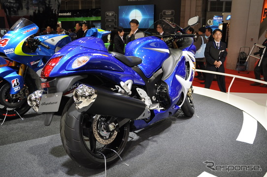 東京モーターショーで展示された「隼」の日本仕様車