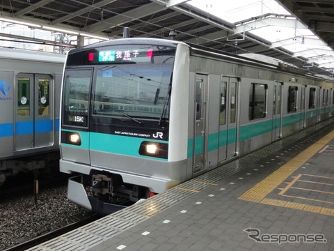JR東日本は常磐緩行線への導入を検討しているCBTCの設計作業を委託するメーカーにフランスのタレスを選定。このほど正式に契約を締結した。写真は常磐緩行線のE233系2000番台。