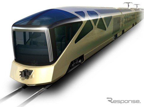 JR東日本が発表した、豪華列車「クルーズトレイン」の外観イメージ。2017年春頃の運行開始が予定されている。
