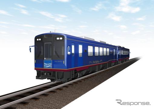のと鉄道が新たに導入する車両の外観イメージ。2015年春にデビューする。