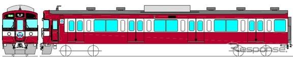 7月19日から運転を開始する「RED LUCKY TRAIN」。9000系9003号編成を京急車に似せた赤白2色の塗装に変える。