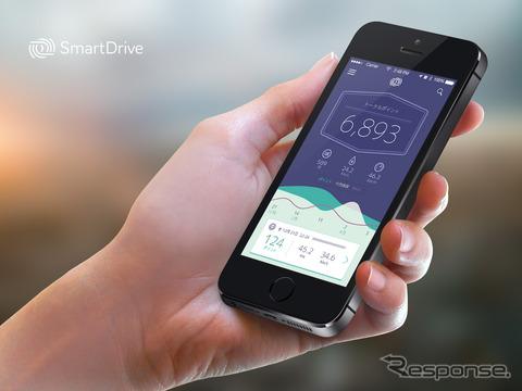 スマートドライブが実証実験で使用するアプリのイメージ
