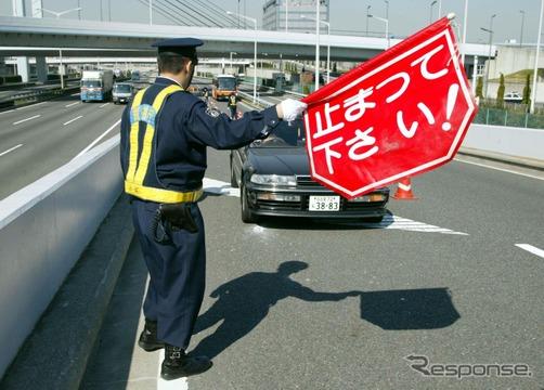 交通取締(イメージ)