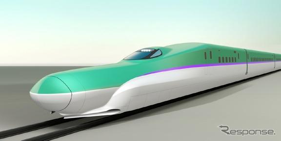 北海道新幹線H5系の完成イメージ。12月1日から列車走行試験が始まる。