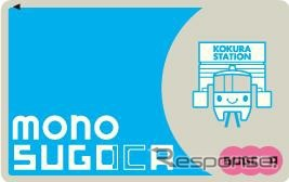 北九州モノレールのICカード「mono SUGOCA」のデザイン。2015年秋に導入される予定。