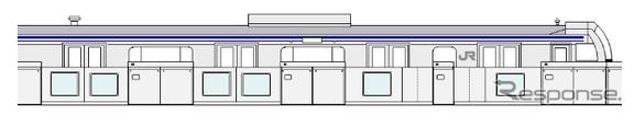 JR東日本は新小岩駅の総武快速線ホームに、ホームドアの設置を検討することを発表した。画像はホームドアの設置イメージ。