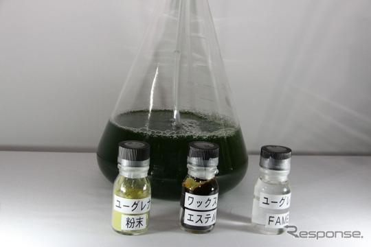 従来方式のバイオ燃料はFAMEを精製するが、次世代バイオ燃料は軽油と分子構造が同じ炭化水素として生成する