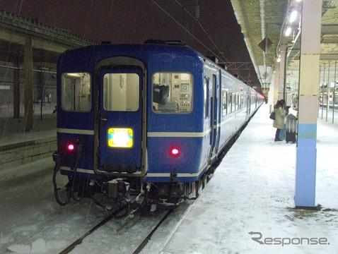 青森3月21日発が最終運行となる『はまなす』。上下とも最終列車は全車指定席となる。