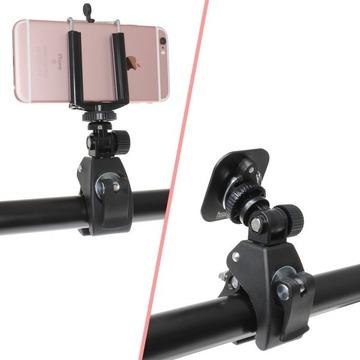 ハンドルやフレームに取り付ける自転車用カメラクランプ