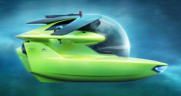 アストンマーティンの潜水艇、最終デザインを発表…水深500mまで潜水可能