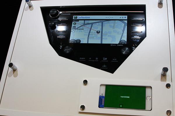 タッチ感はスマホそのもの、カーナビタイムを車載カーナビ画面で操作…CEATEC 2018