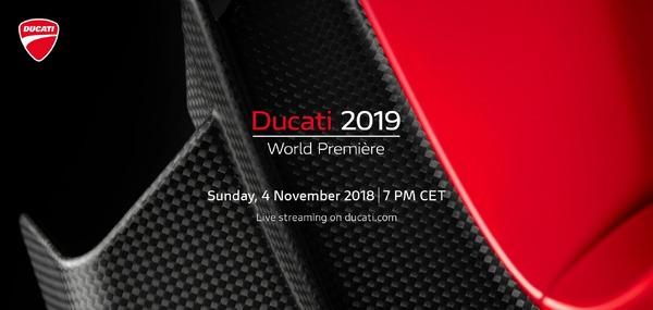 ドゥカティの2019年モデル、EICMA 2018で発表へ…ライブストリーミングも