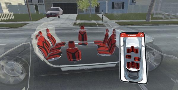 次世代シートは数や配置が自由自在、完全自動運転を想定…マグナ