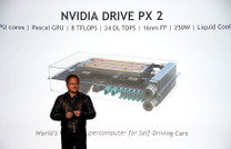 【CES16】NVIDIA、自動運転車用CPU「DRIVE PX 2」を発表 画像