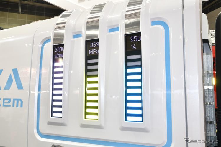 モリタの窒素富化空気(NEA)システム搭載車 Miracle N7(東京国際消防防災展2018)