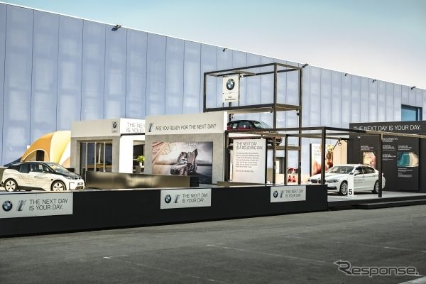 BMWグループのMWC 2018ブース